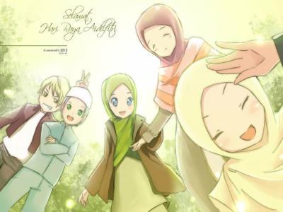 Islamic Anime Muslim Musluman Gencler Hijab On Pinterest